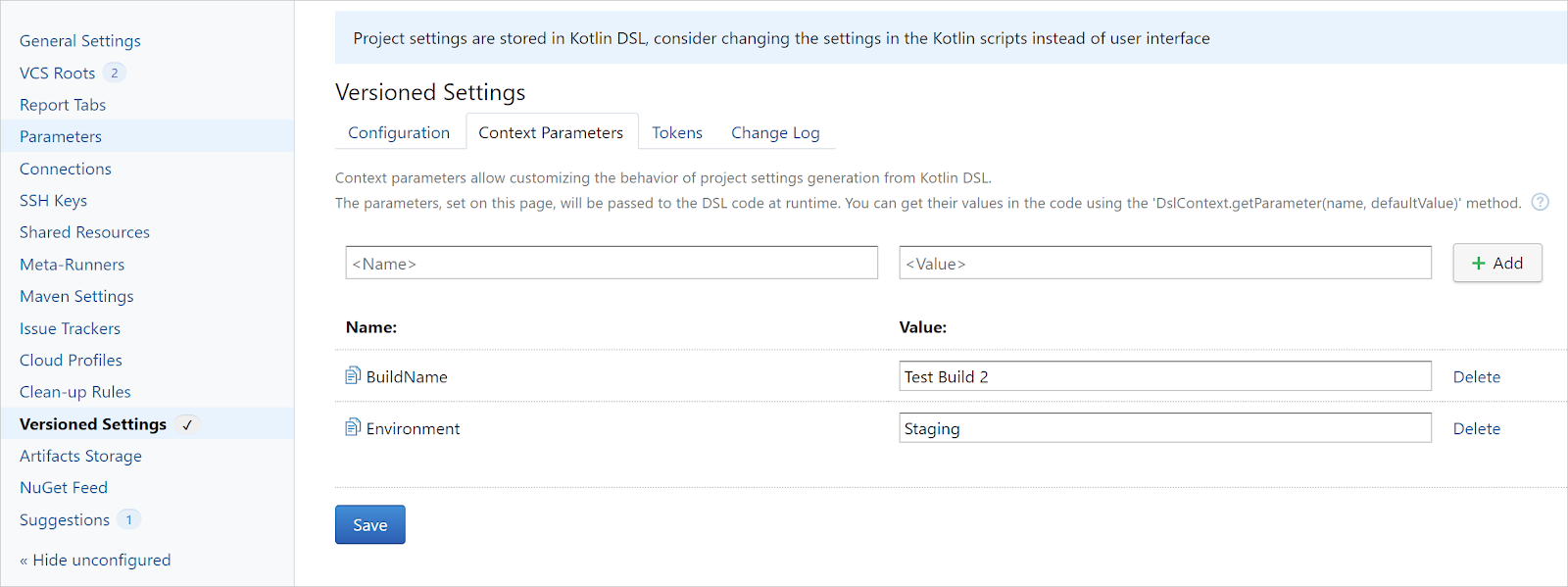 Kotlin DSL parameters