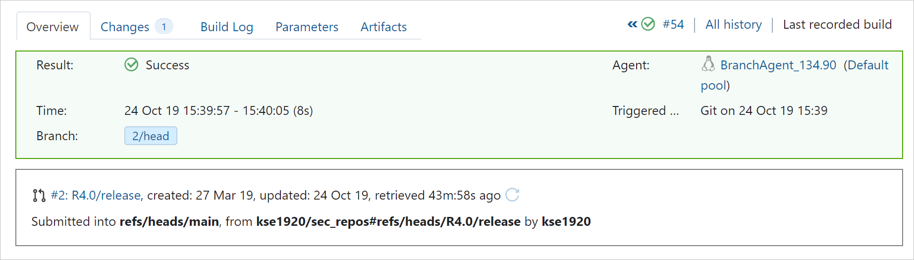 Pull request details