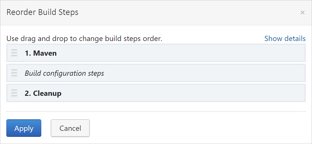 Reorder build steps