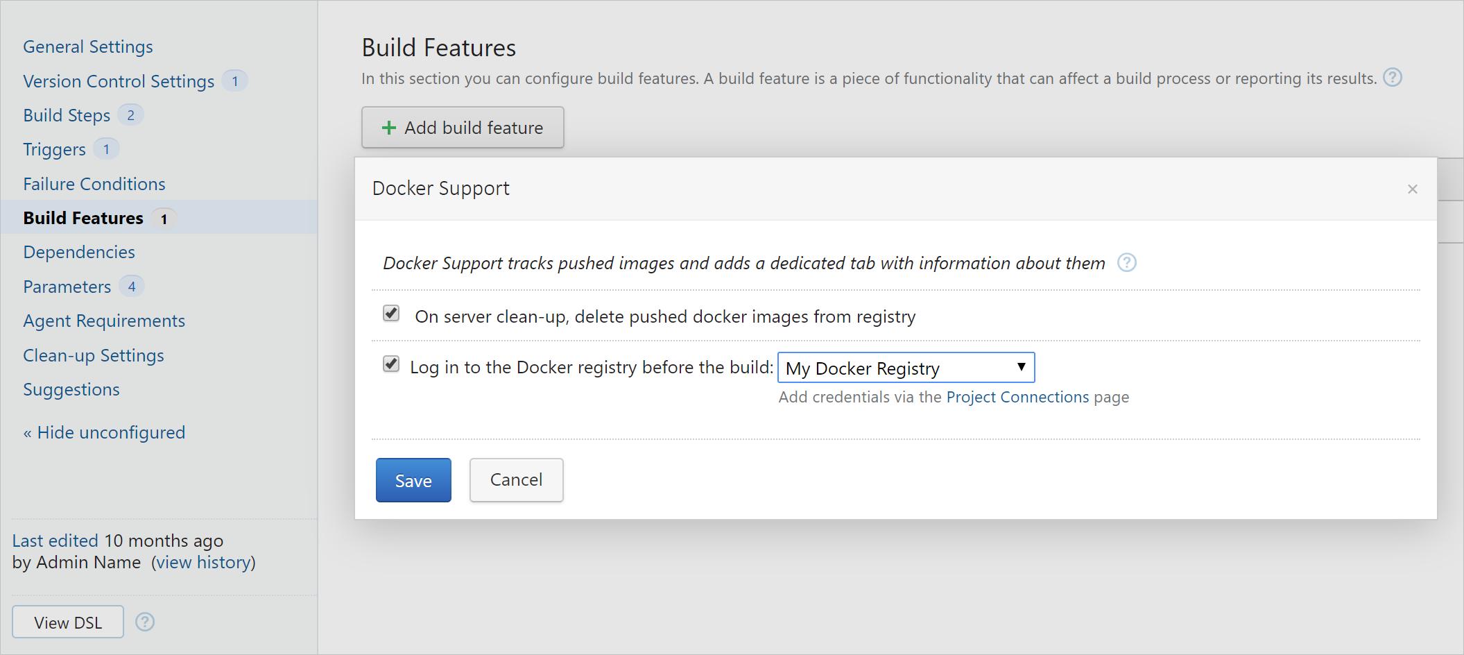 Docker Support build feature