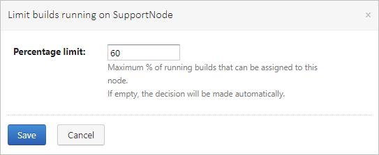 Limit builds on node