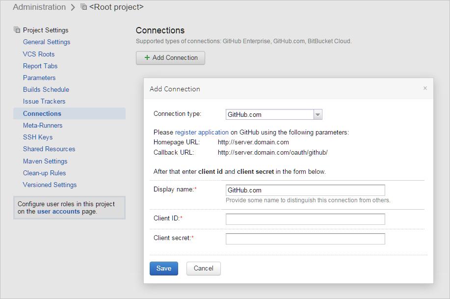 Adding a GitHub connection