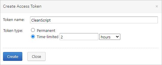 Temporary access tokens