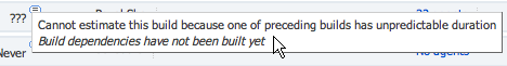 Unpredictable build duration
