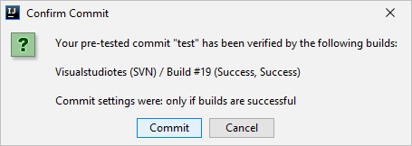 Confirm Commit Dialog