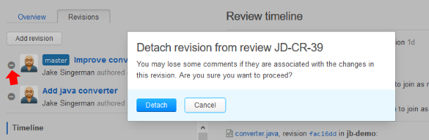 Detach from review