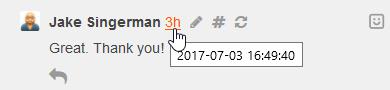 click timestamp