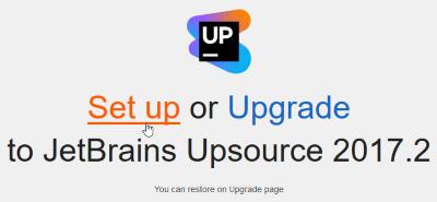 upsource_setup_select