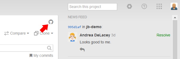 github synch icon
