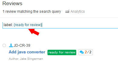 review label query