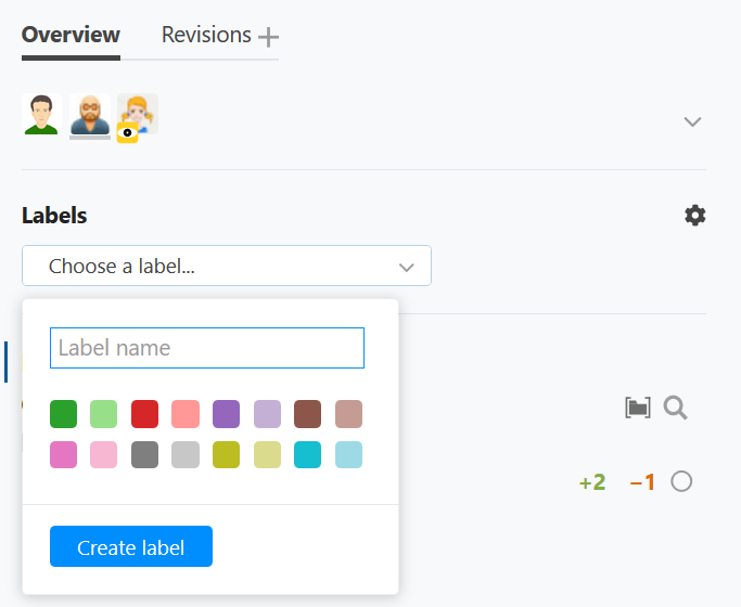 review label create
