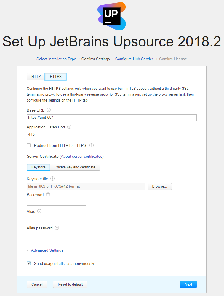 Tls Server Certificate Help Upsource