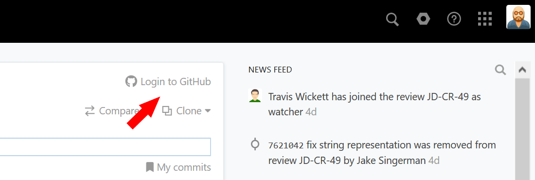 Synchronizing your activities in GitHub projects - Help | Upsource