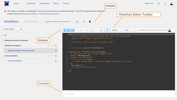 JS workflow editor