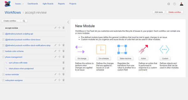 create workflow new module