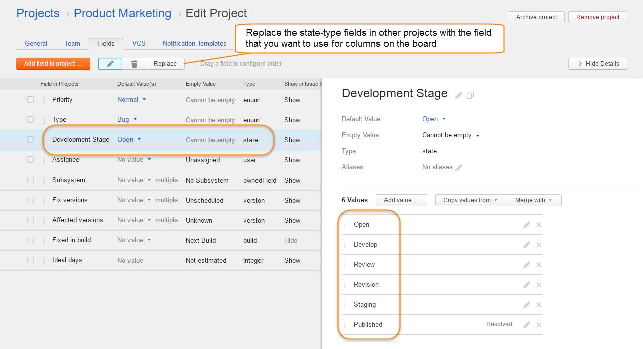 kanban tutorial project config