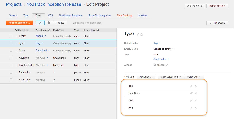 scrum tutorial custom fields