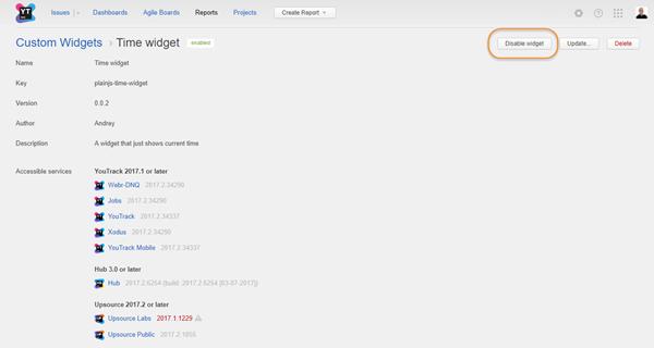 disable widget profile