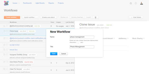 new workflow dialog js