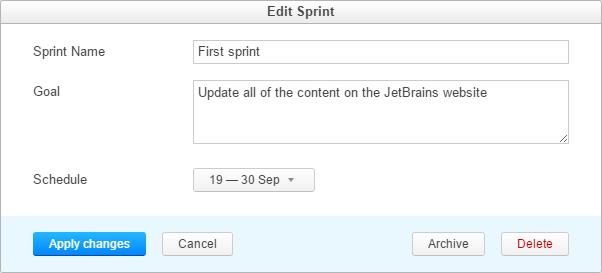scrum tutorial edit sprint