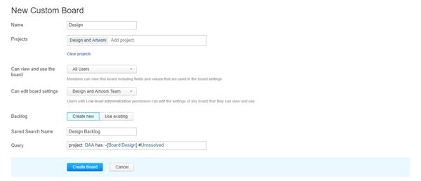 assignee new board settings
