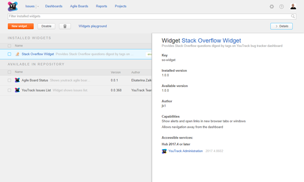 custom widgets list