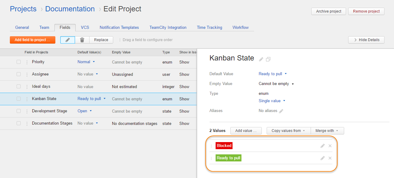 kanban tutorial cards color scheme