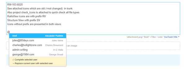 mention user description
