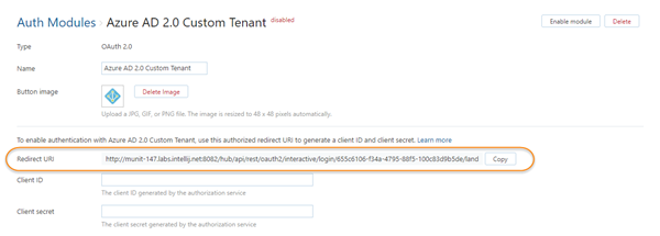 Azure auth custom tenant redirect uri