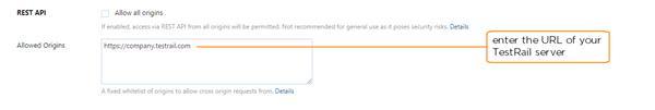 enable REST API for TestRail server