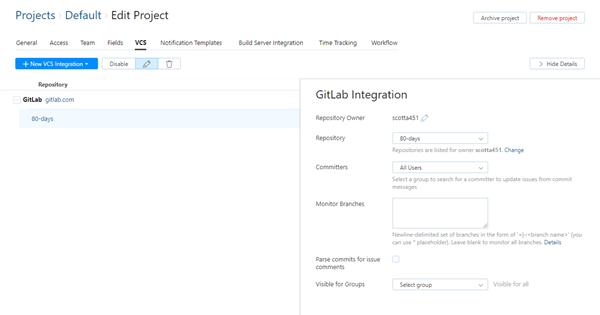 GitLab integration saved