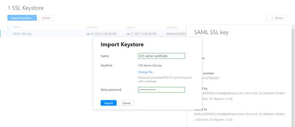 import SSL keystore