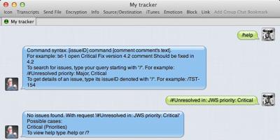 Jabber bot conversation