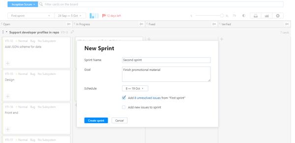Scrum tutorial next sprint