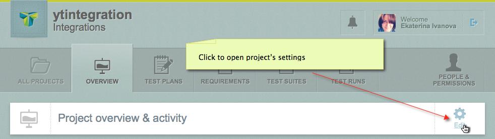 Testlodge edit project click