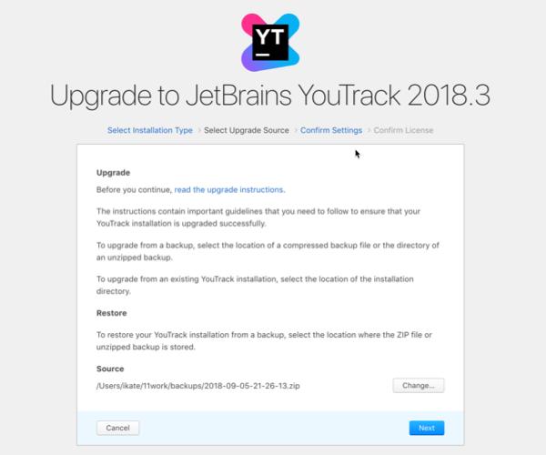 Select an upgrade source