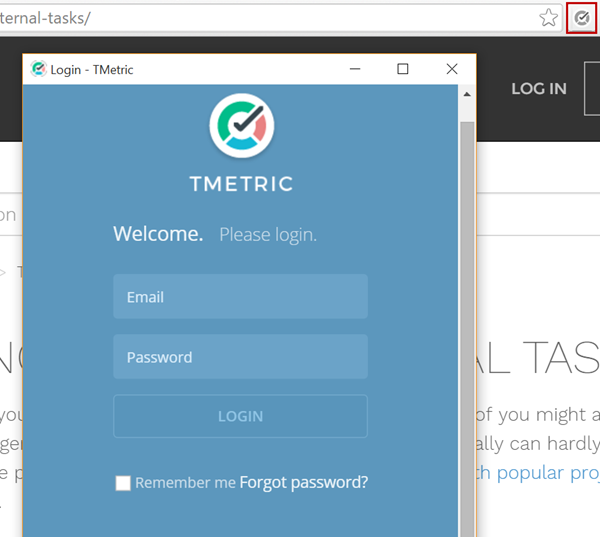T metric chrome extension