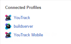 User profile connected profiles