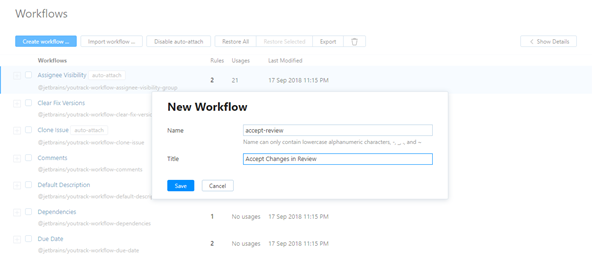 Create workflow new workflow