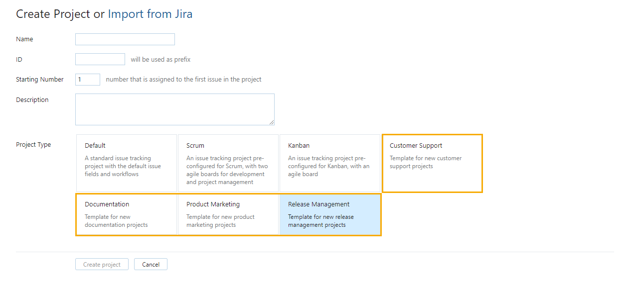 Custom Project Templates Help Youtrack Standalone