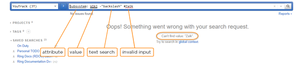 Search query highlight