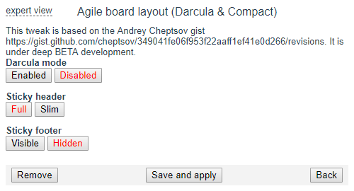 agile board layout tweak