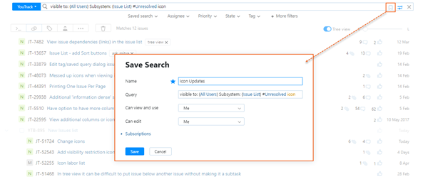 save current search
