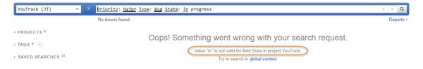 Text search error