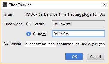 Time tracking integration work item