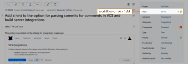 workflow-driven field