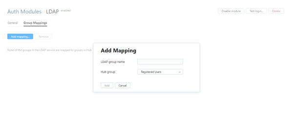 add LDAP group mapping