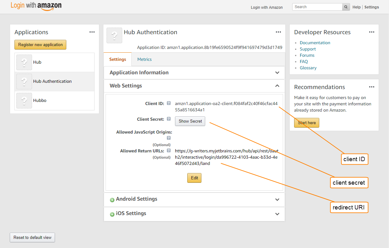 Amazon Auth Module - Help | YouTrack Standalone