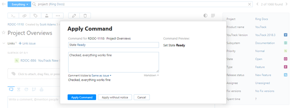 Command dialog new