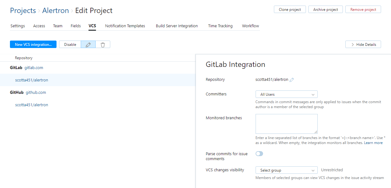 Integrate with GitLab - Help | YouTrack InCloud